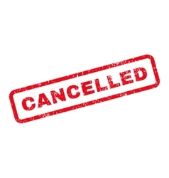 Cancelled Text Rubber Stamp vector