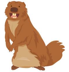 cartoon gopher animal character vector image