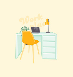 Cartoon of a workplace vector