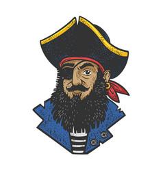 cartoon pirate sketch vector image