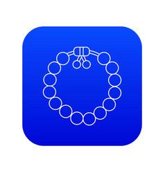 Charming gemstone bracelet icon blue vector