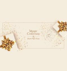 christmas minimalistic banner design template vector image