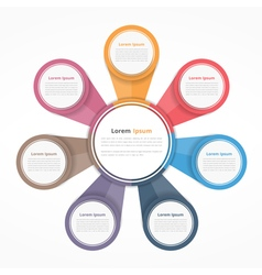Circle Diagram with Seven Elements vector