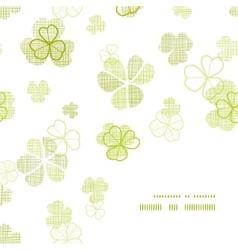 clover textile textured line art frame corner vector image