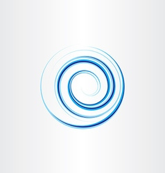 design element water wave blue circle vector image