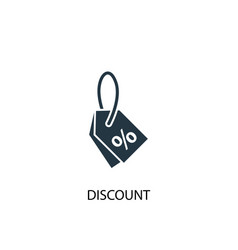 discount icon simple element vector image