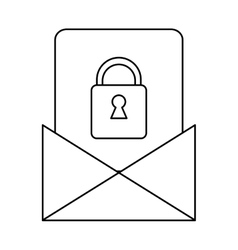Email message security system technology outline vector