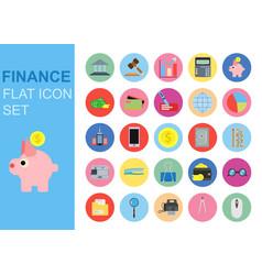 finance universal flat business icons set design vector image