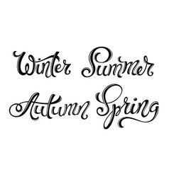 four seasons set spring summer autumn winter vector image