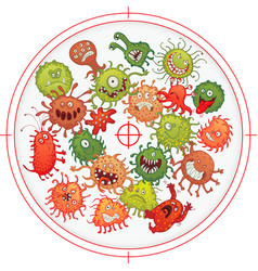 germs and bacteria at gunpoint vector image