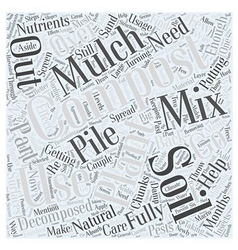 Getting the Most Out of Your Compost Word Cloud vector