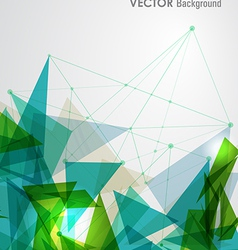 Green and blue network geometric transparency vector image