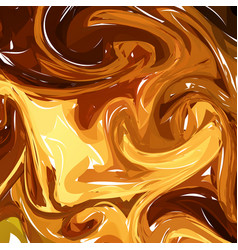 hand drawn artwork on water marble texture liquid vector image