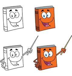 Happy book cartoon vector