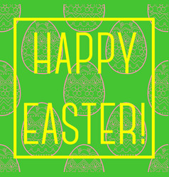 Happy easter card with frame vector
