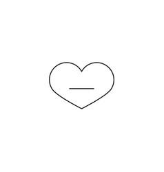 heart icon remove sign line web icon vector image