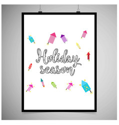 hioliday season frame vector image