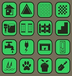 home icon basic style vector image