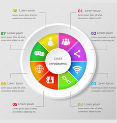 infographic design template with chat icons vector image