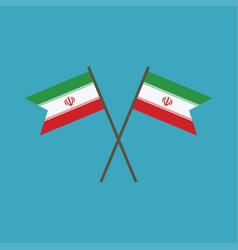 iran flag icon in flat design vector image
