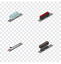 Isometric transport set of delivery tank vector