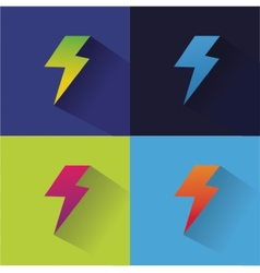 Lightning logo icon for design vector