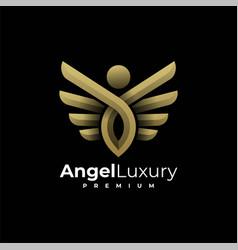 Logo angel luxury gradient colorful style vector