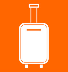 luggage bag white icon vector image