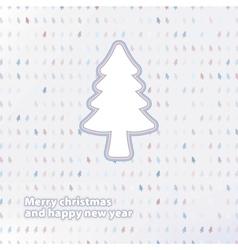 Merry Christmas festive tree background EPS8 vector image