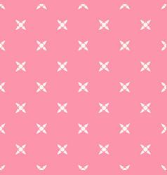 minimalist floral seamless pattern subtle pink vector image