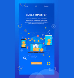 Money transfer phone number and account number vector