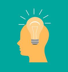 new idea form human head vector image
