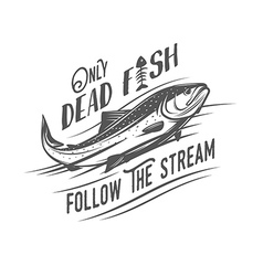 only dead fish follow stream vector image