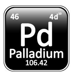 Periodic table element palladium icon vector
