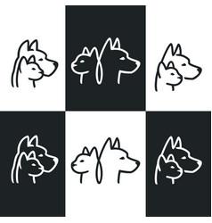 Pets logos design set vector