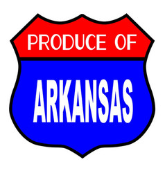 Produce of arkansas vector