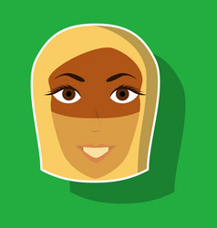 Realistic paper sticker on theme arabic business vector