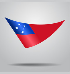 Samoan flag background vector