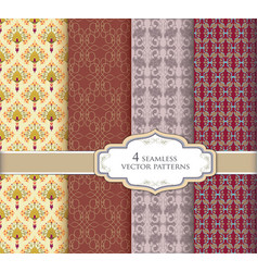 Seamless pattern vintage set abstract texture vector