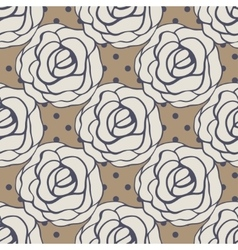 Seamless pattern with roses contours vector image vector image