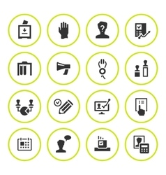 Set round icons of elections vector
