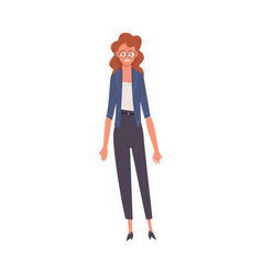 smiling young woman female teacher or professor vector image
