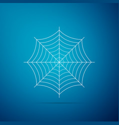 spider web icon on blue background cobweb sign vector image