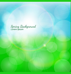 Spring natural background with bokeh effects vector