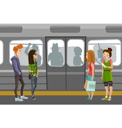 Subway People Background vector