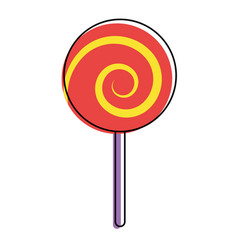sweet candy cane swirl round vector image
