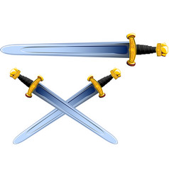 sword viking cartoon vector image