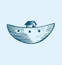 Symbol noahs ark vector
