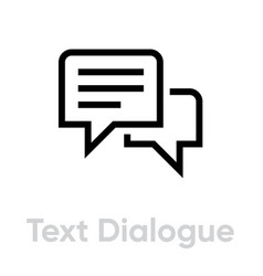 text dialogue chat message icon single pictograph vector image