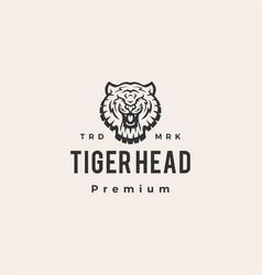 tiger head hipster vintage logo icon vector image